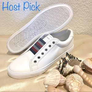 NWOB Tommy Hilfiger Sparkly Leather Sneakers 10